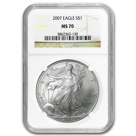 2007 Silver American Eagle MS-70 NGC