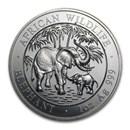 2007 Somalia 1 oz Silver Elephant BU