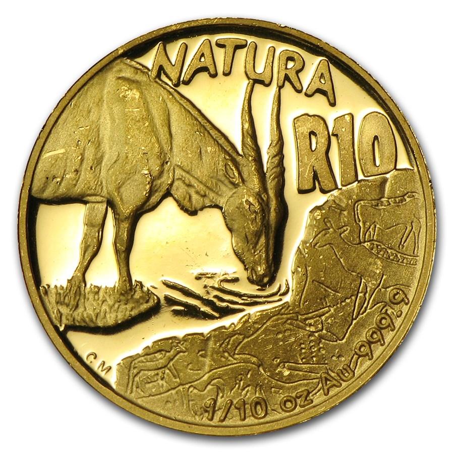 2007 South Africa 1/10 oz Gold Natura Eland