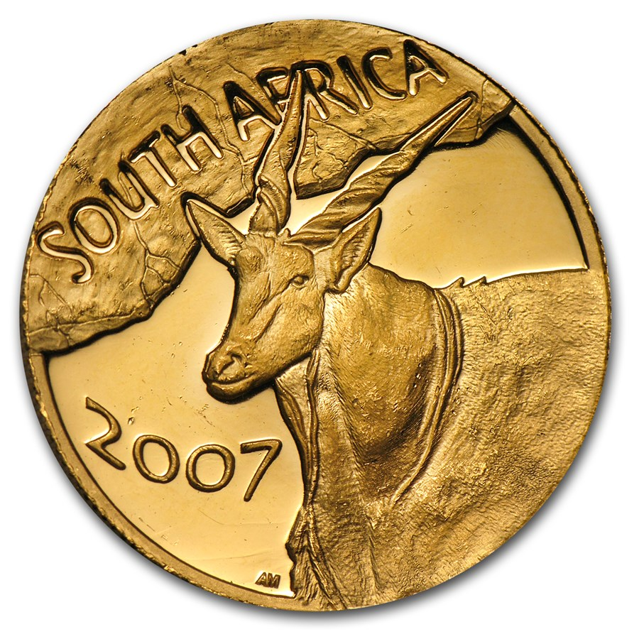 2007 South Africa 1/2 oz Gold Natura Eland