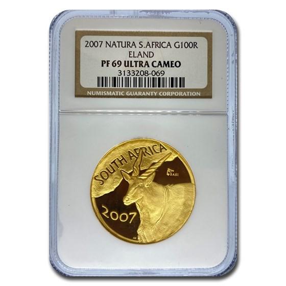 2007 South Africa 1 oz Gold Natura Eland PF-69 NGC