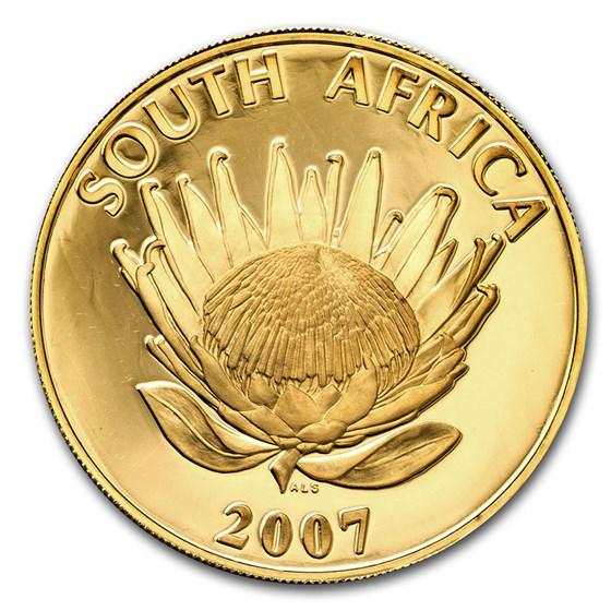 2007 South Africa Gold 25 Rand 1 oz Mandela/de Klerk Protea Proof