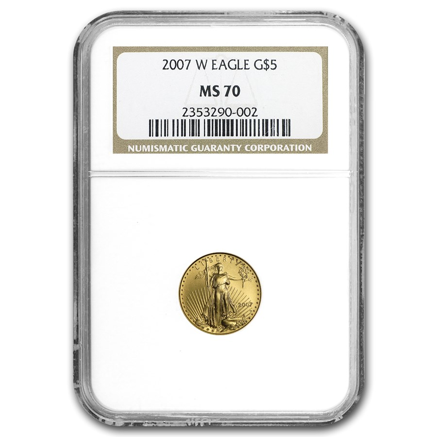 2007-W 1/10 oz Burnished American Gold Eagle MS-70 NGC