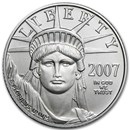 2007-W 1/10 oz Burnished Platinum American Eagle (w/Box & COA)
