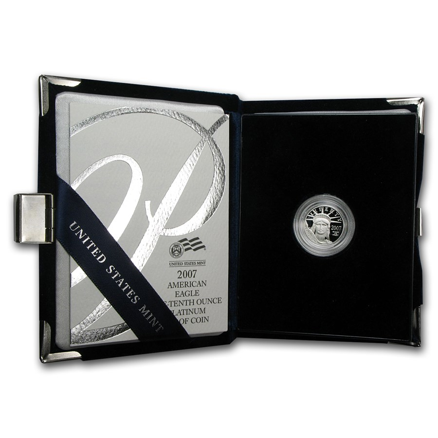 2007-W 1/10 oz Proof American Platinum Eagle (w/Box & COA)