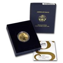 2007-W 1/2 oz Burnished American Gold Eagle (w/Box & COA)
