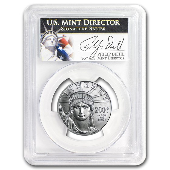 2007-W 1/2 oz Burnished American Platinum Eagle MS-69 PCGS