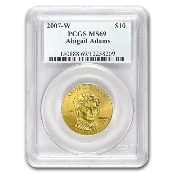 2007-W 1/2 oz Gold Abigail Adams MS-69 PCGS