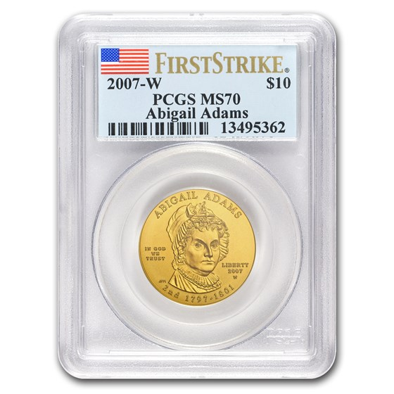 2007-W 1/2 oz Gold Abigail Adams MS-70 PCGS (FirstStrike®)