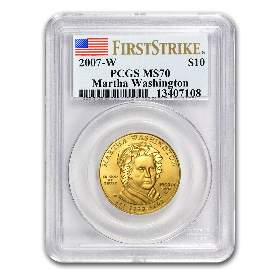 2007-W 1/2 oz Gold Martha Washington MS-70 PCGS (FirstStrike®)
