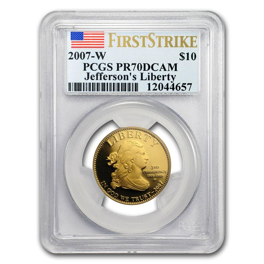 2007-W 1/2 oz Proof Gold Jefferson's Liberty PR-70 PCGS (FS)