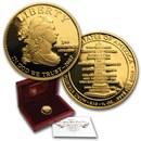 2007-W 1/2 oz Proof Gold Jefferson's Liberty (w/Box & COA)