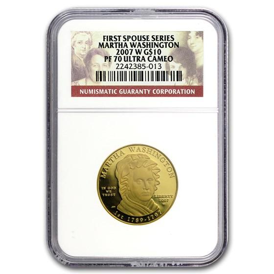 2007-W 1/2 oz Proof Gold Martha Washington PF-70 NGC