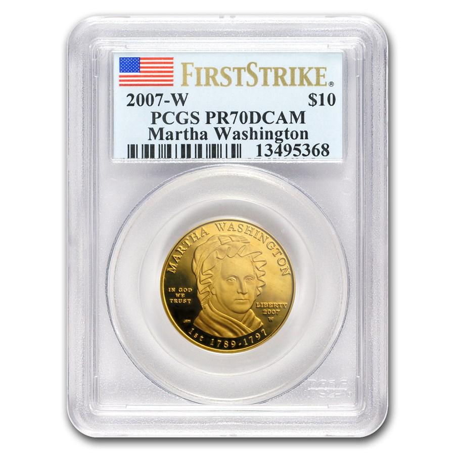 2007-W 1/2 oz Proof Gold Martha Washington PR-70 PCGS (FS)