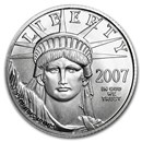2007-W 1/4 oz Burnished American Platinum Eagle (w/Box & COA)