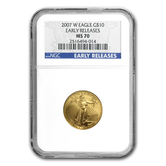 2007-W 1/4 oz Burnished Gold Eagle MS/SP-70 NGC (Early Release)
