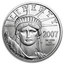 2007-W 1/4 oz Burnished Platinum American Eagle (w/Box & COA)