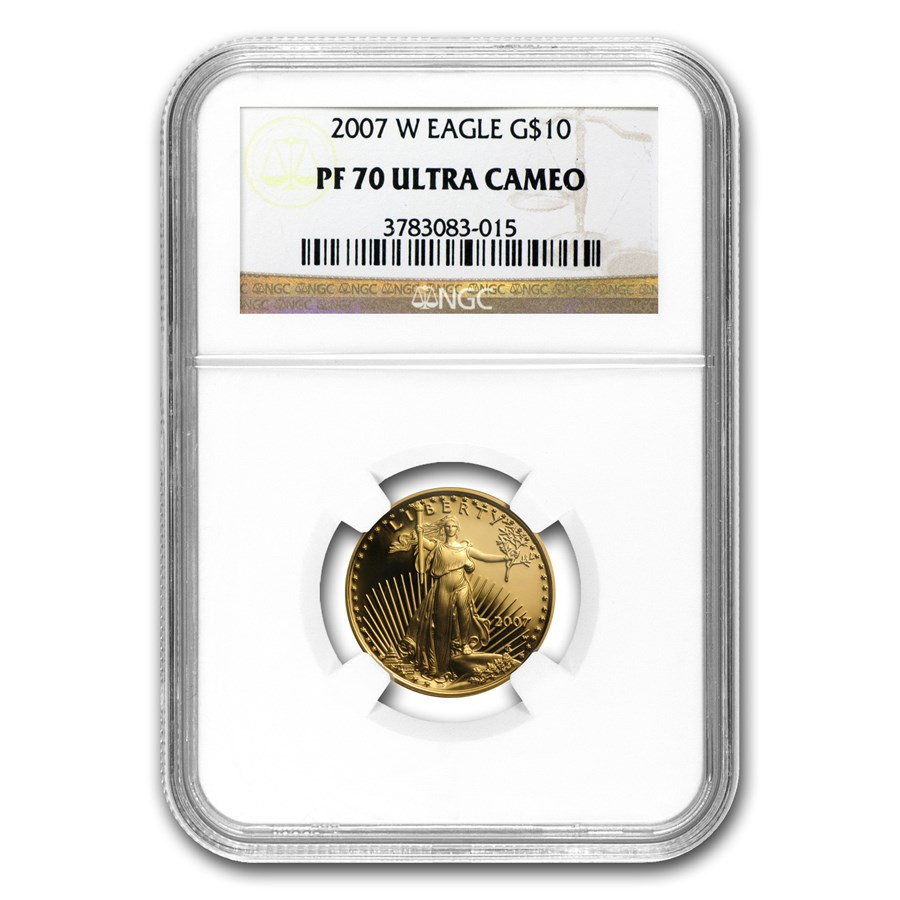 2007-W 1/4 oz Proof American Gold Eagle PF-70 NGC