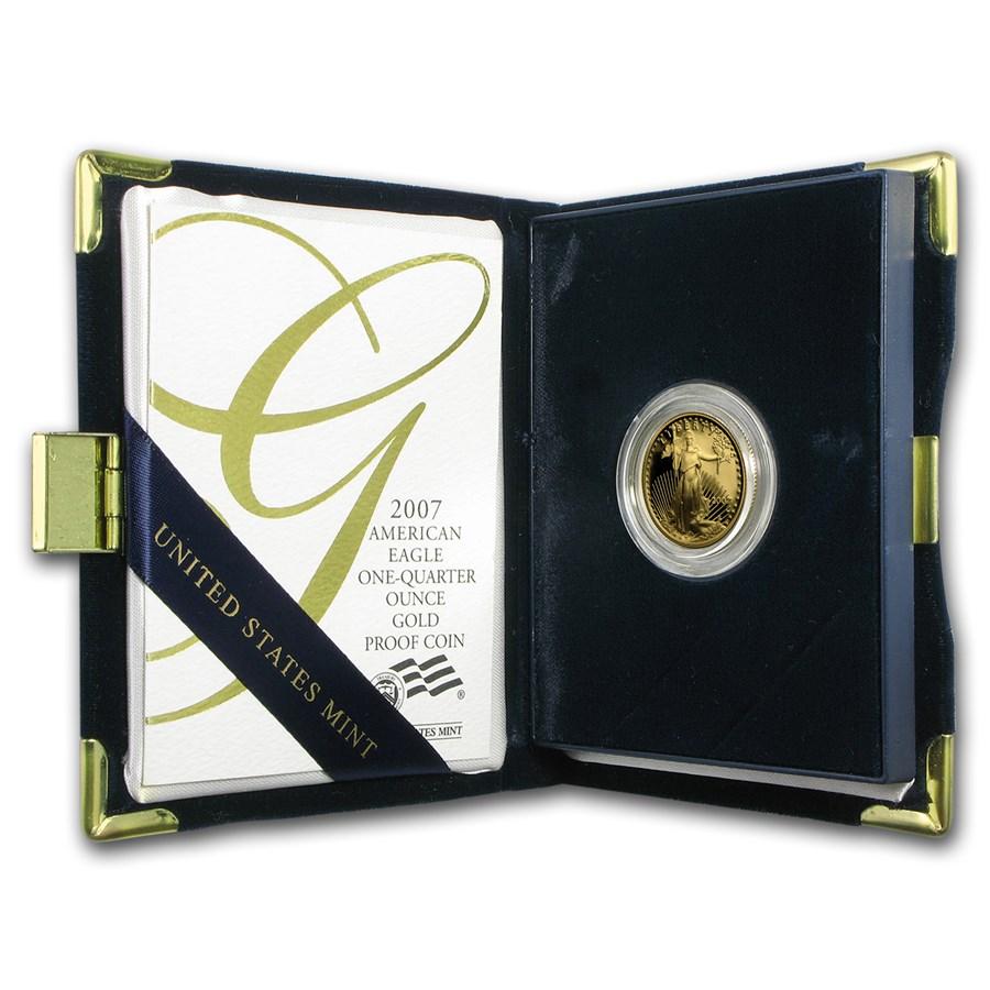 2007-W 1/4 oz Proof American Gold Eagle (w/Box & COA)