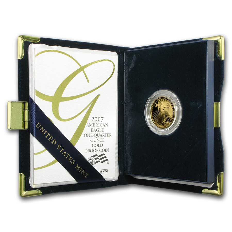 2007-W 1/4 oz Proof Gold American Eagle (w/Box & COA)