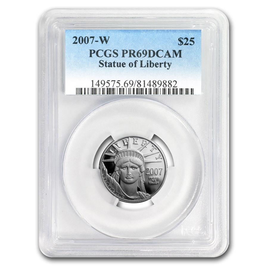 2007-W 1/4 oz Proof Platinum American Eagle PR-69 PCGS