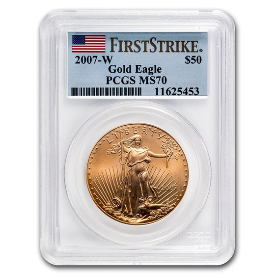 2007-W 1 oz Burnished Gold Eagle MS-70 PCGS (FirstStrike®)