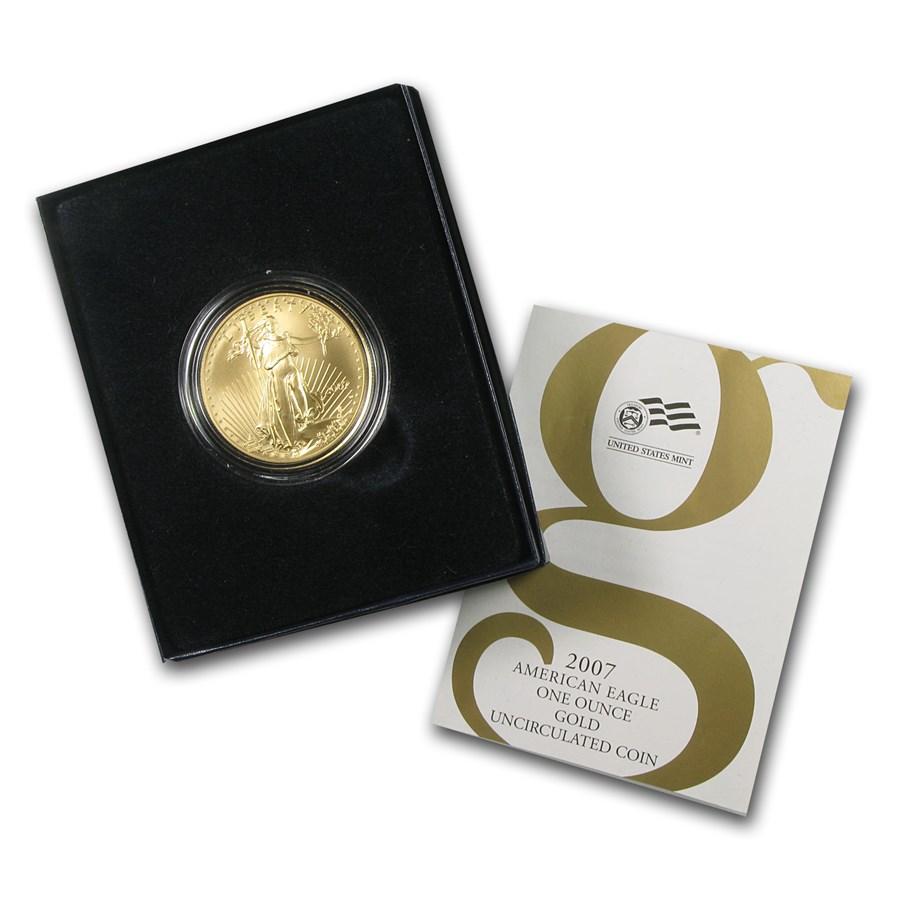 2007-W 1 oz Burnished Gold Eagle (w/Box & COA)