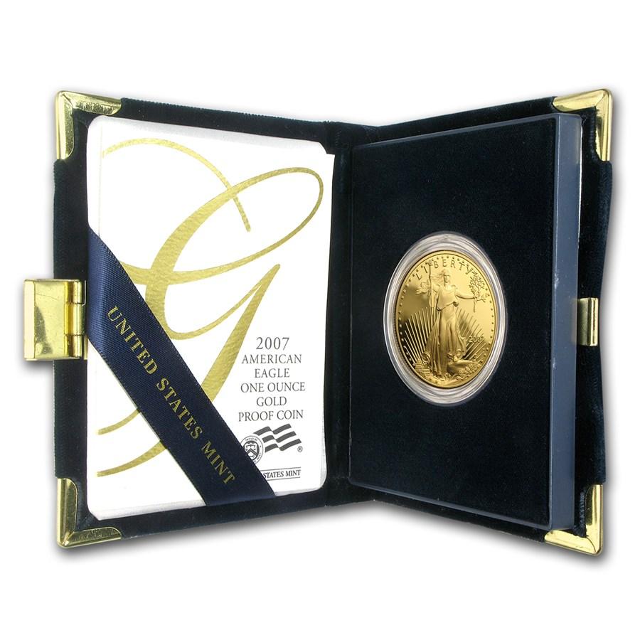 2007-W 1 oz Proof American Gold Eagle (w/Box & COA)
