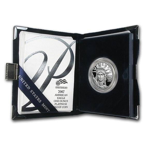 2007-W 1 oz Proof American Platinum Eagle (w/Box & COA)