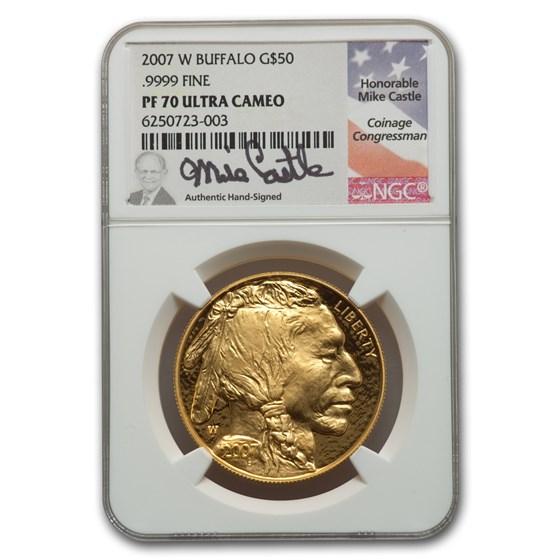 2007-W 1 oz Proof Gold Buffalo PF-70 NGC (Mike Castle)