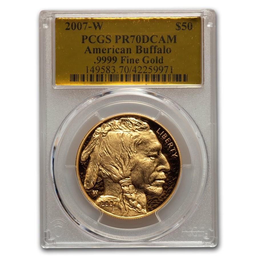 2007-W 1 oz Proof Gold Buffalo PR-70 PCGS (Gold Foil)