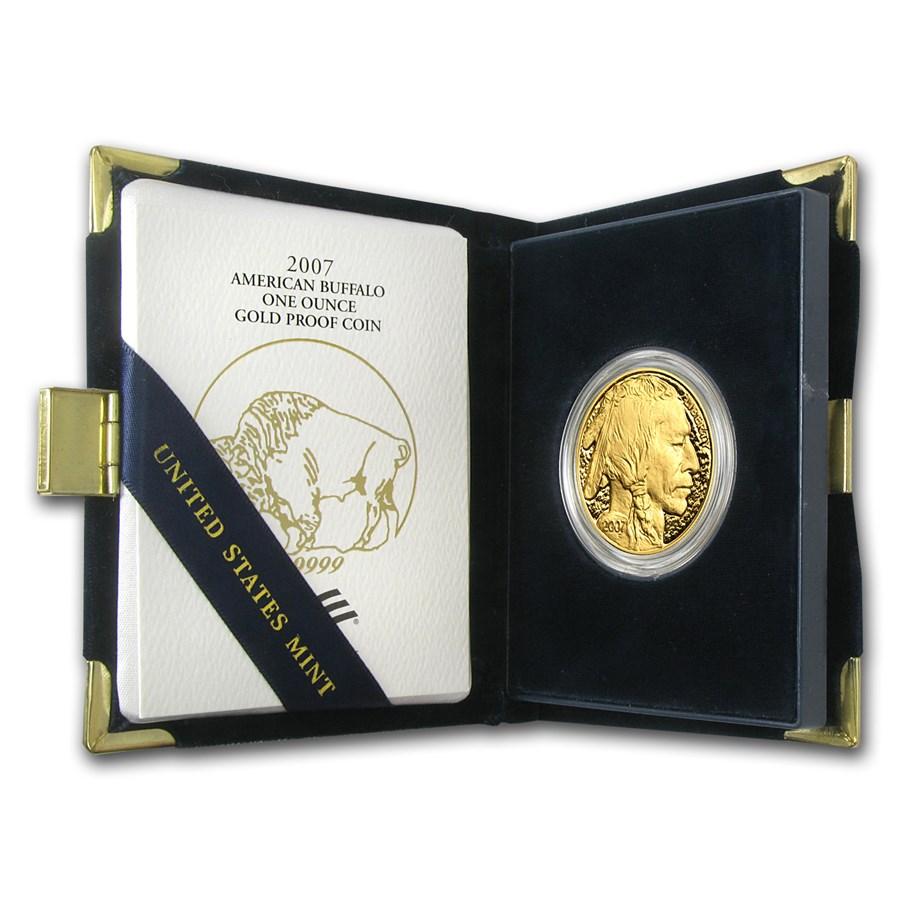 2007-W 1 oz Proof Gold Buffalo (w/Box & COA)