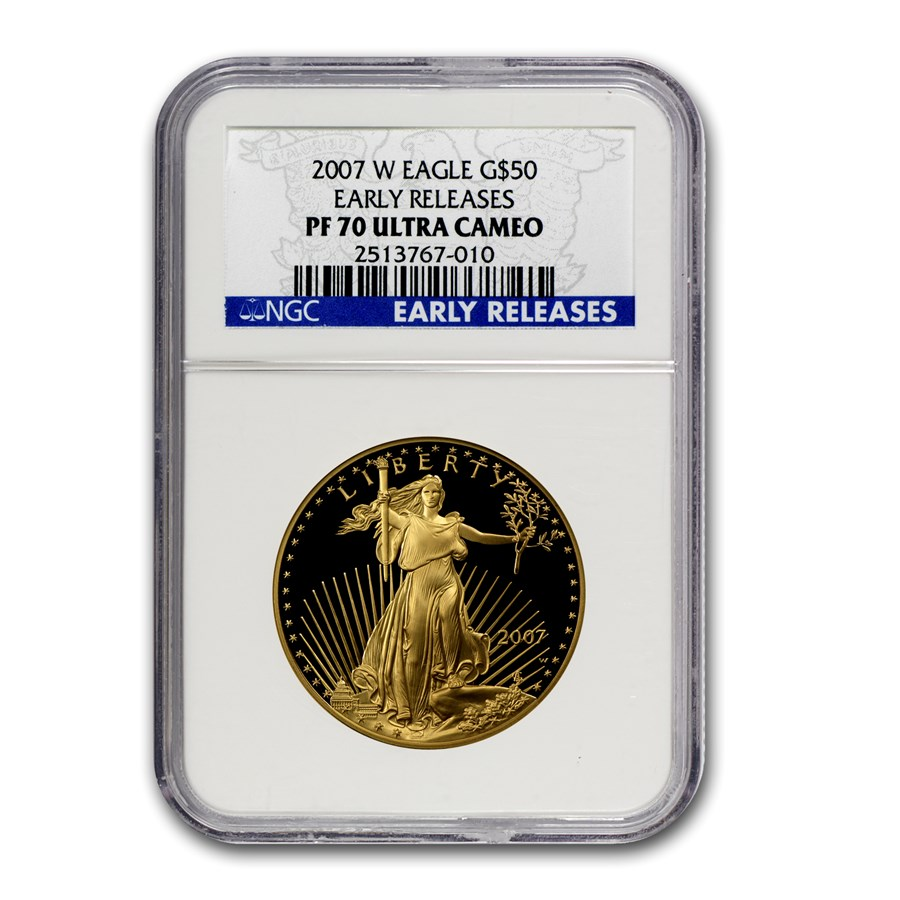 2007-W 1 oz Proof Gold Eagle PF-70 UCAM NGC (Early Releases)
