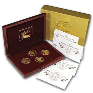 2007-W 4-Coin 1/2 oz Proof Gold First Spouse Set (No sleeve)