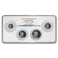 2007-W 4-Coin Proof American Platinum Eagle Set PF-70 NGC (ER)