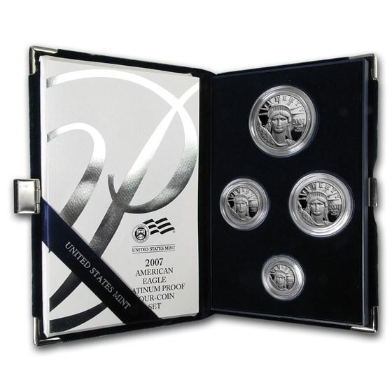 2007-W 4-Coin Proof American Platinum Eagle Set (w/Box & COA)