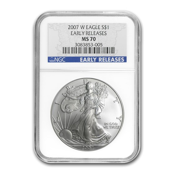 2007-W Burnished American Silver Eagle MS-70 NGC (ER)