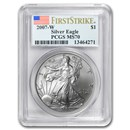 2007-W Burnished American Silver Eagle MS-70 PCGS (FS)