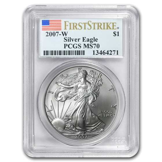 2007-W Burnished American Silver Eagle MS-70 PCGS (FS)