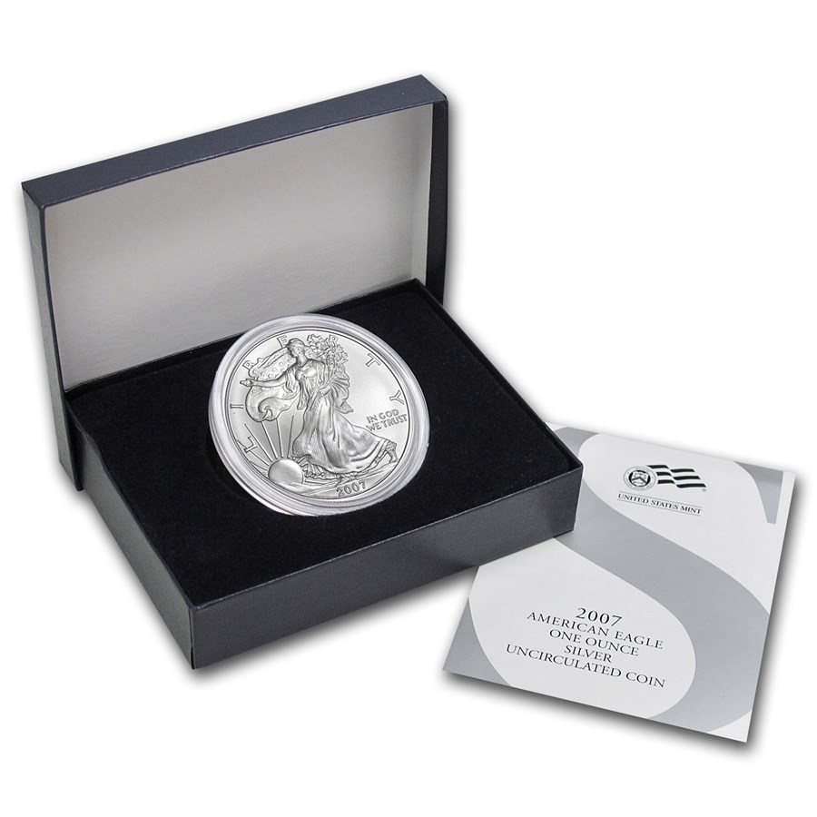 2007-W Burnished Silver American Eagle (w/Box & COA)