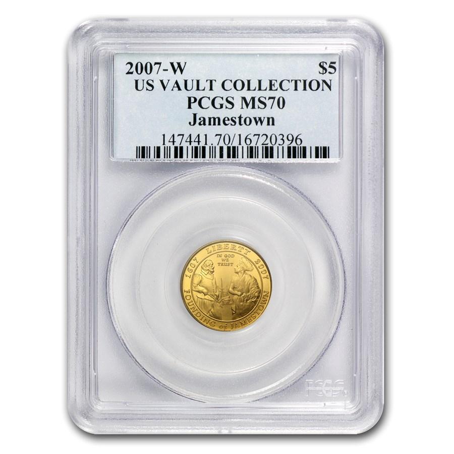 2007-W Gold $5 Commem Jamestown MS-70 PCGS
