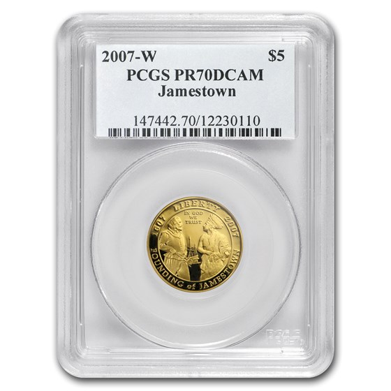 2007-W Gold $5 Commem Jamestown PR-70 PCGS