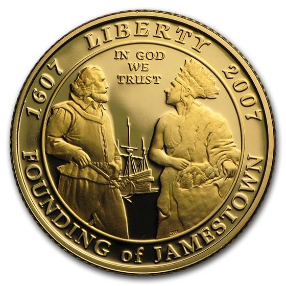2007-W Gold $5 Commem Jamestown Proof (w/Box & COA)