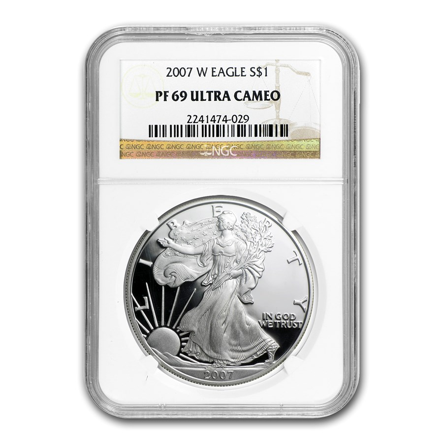 2007-W Proof American Silver Eagle PF-69 NGC