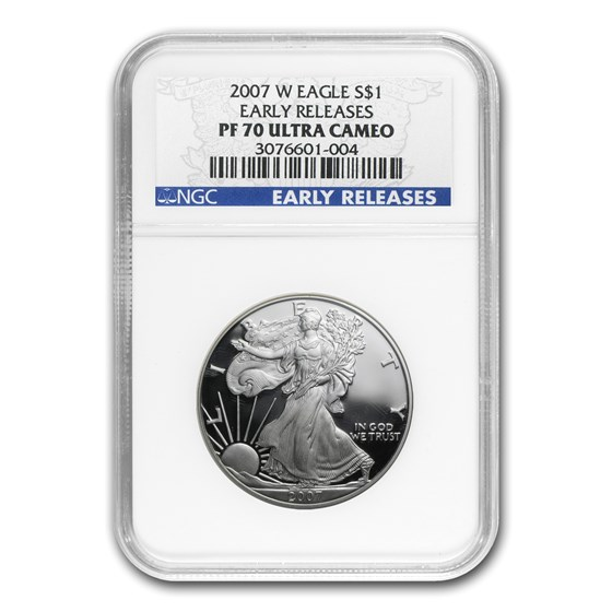 2007-W Proof American Silver Eagle PF-70 NGC (ER)