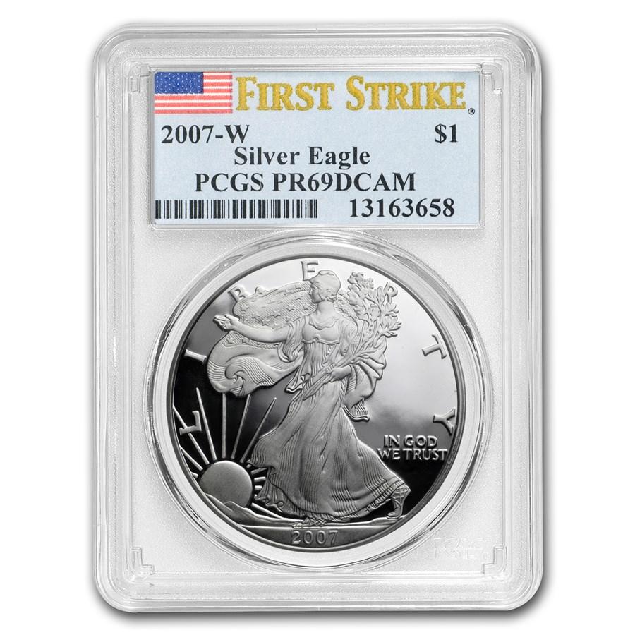 2007-W Proof American Silver Eagle PR-69 PCGS (FS)