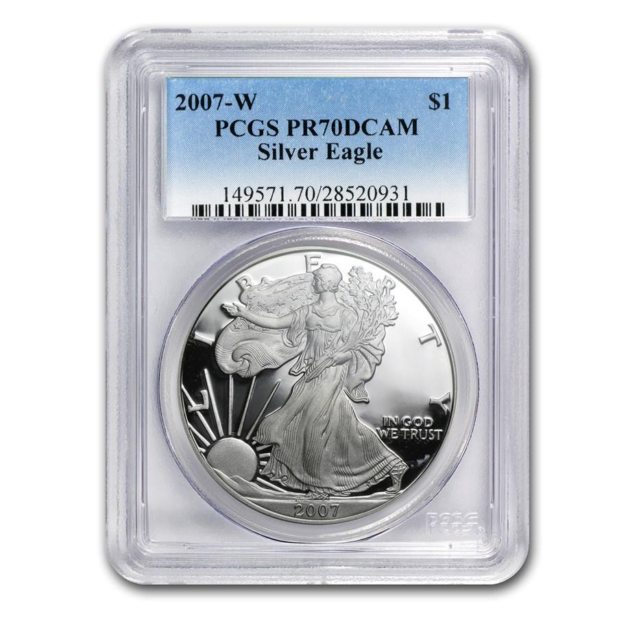 2007-W Proof American Silver Eagle PR-70 PCGS