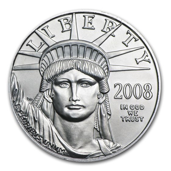 2008 1/10 oz American Platinum Eagle BU