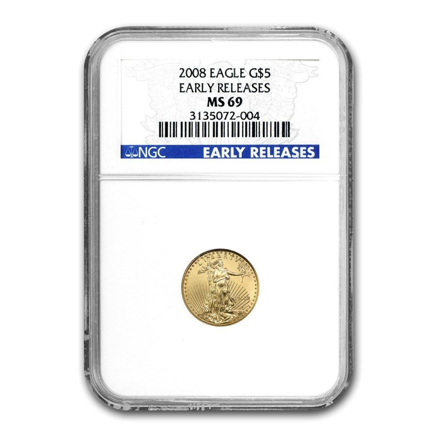 2008 1/10 oz Gold American Eagle MS-69 NGC (Early Releases)