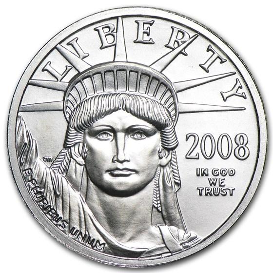 2008 1/4 oz American Platinum Eagle BU